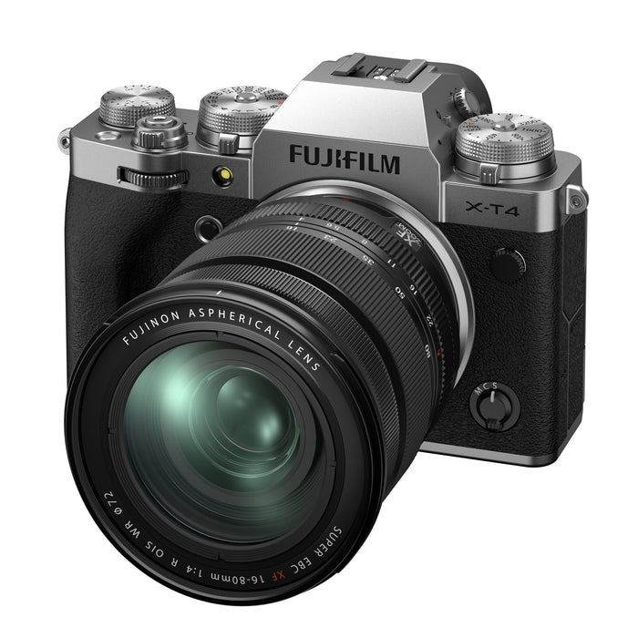 Fujifilm X-T4 Mirrorless Digital Camera with 16-80mm Lens - Silver