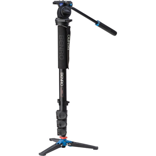 Benro Series 3 Aluminum Monopod with 3-Leg Locking Base and S2 Video Head