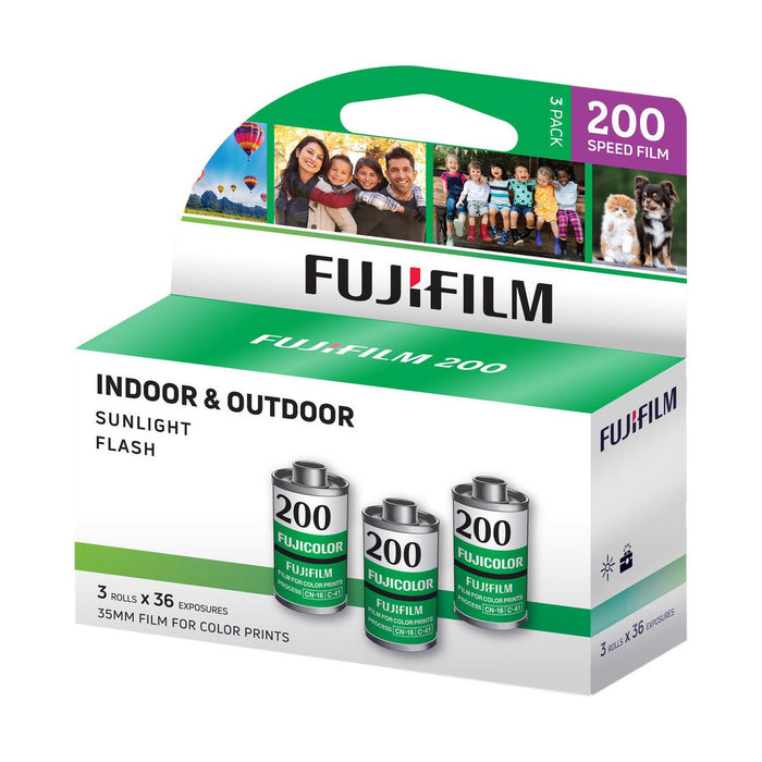 Fujifilm Fujicolor 200 Color Negative 35mm Film, 36 Exposures, 3-Pack