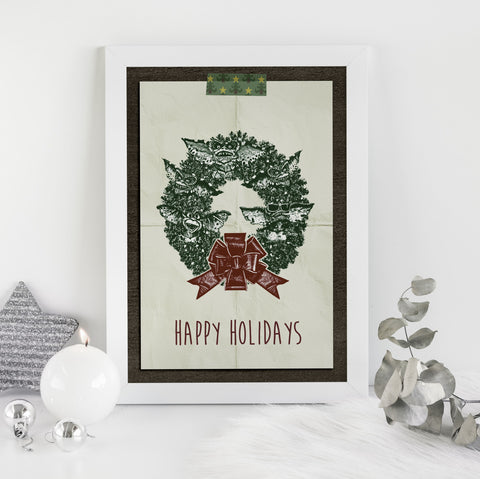 Wreath Gremlins Fine Art Print