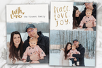 Peace Love Joy in Gold - 5 x 7 Custom Holiday Cards