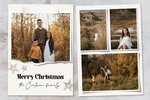 Gold Stars - 5 x 7 Custom Holiday Cards