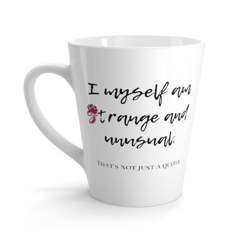 Strange and Unusual Latte mug