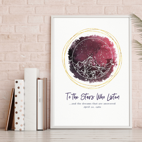 A Court of Thorns and Roses Series Personalized Star Map Gift