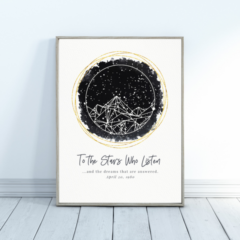 A Court of Mist and Fury Personalized Star Map Gift