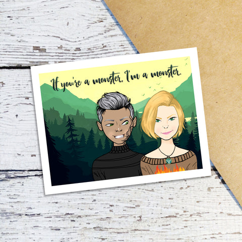 Aelin & Rowan Note Cards
