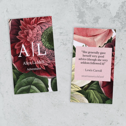 Alice in Wonderland Floral Mini Bookmark