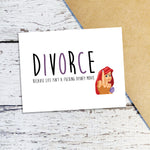 Mermaid Divorce Note Cards