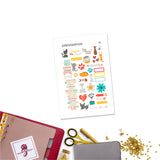 Colorful Pets Personal Planner Stickers