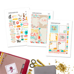 Colorful Pets Letter Planner Stickers
