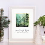 Evergreen Forest Personalized Star Map Gift