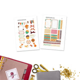 Fall Fox Personal Planner Stickers