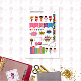 Girl Power Personal Planner Stickers
