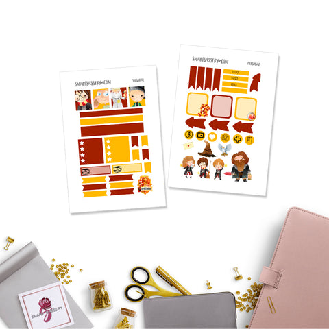 Wizarding House Personal Planner Stickers Gryffindor