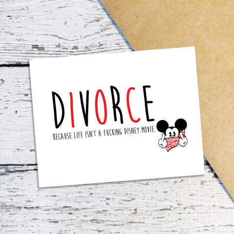 Divorce Disney Mickey Note Cards