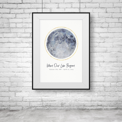 Full Moon Personalized Star Map Gift