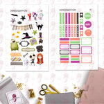 Nightmare Before Christmas Letter Planner Stickers
