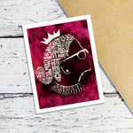 RBG Typography Note Cards