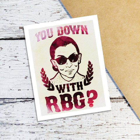 Down with RBG Note Cards