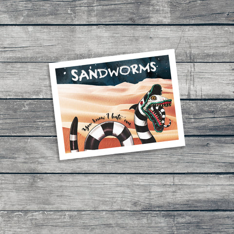 Sandworm Note Cards