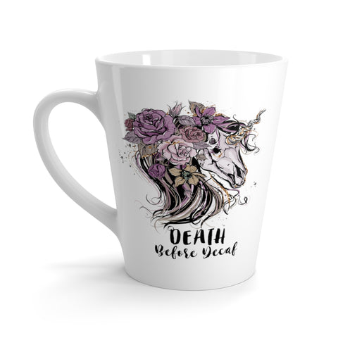 Death Before Decaf Latte Mug
