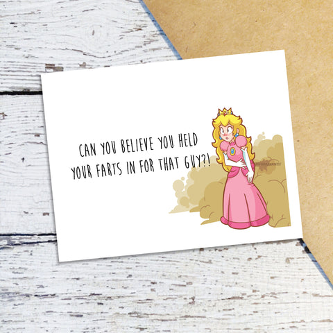 Break Up Princess Peach Note Cards