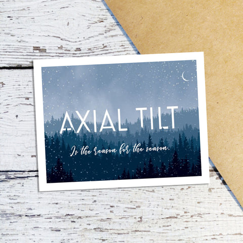 Axial Tilt Holiday Cards