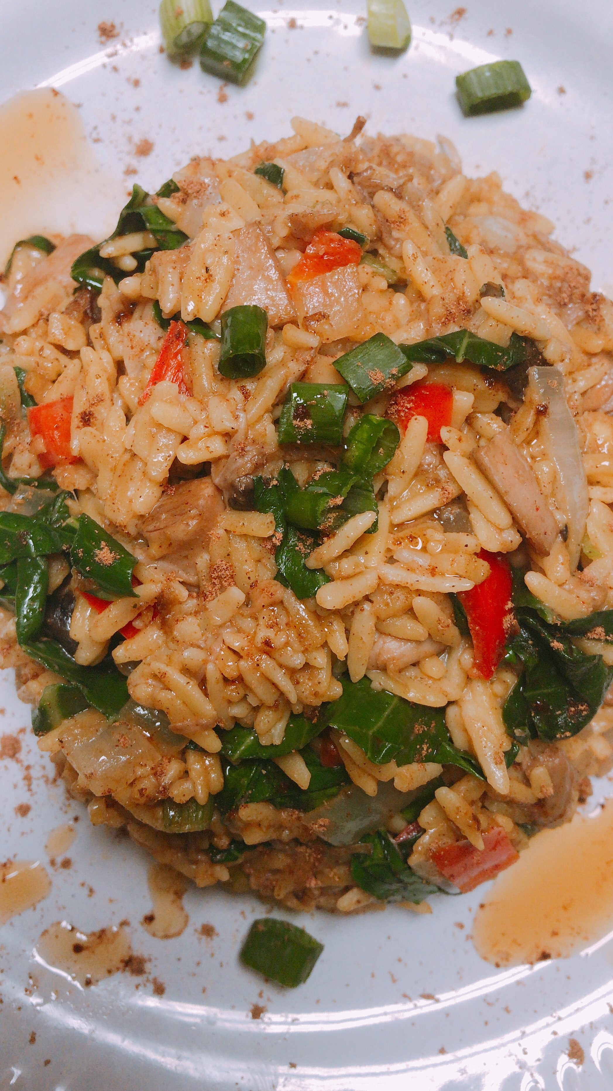 Vegan Pork Fried Rice Recipe with Chickpea Rice