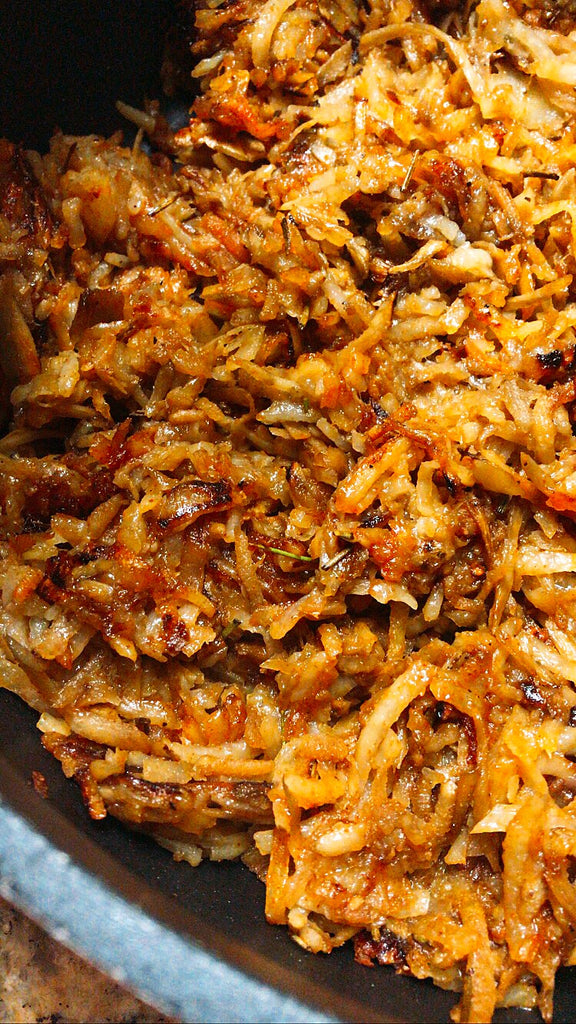 Burdock root hash browns recipe