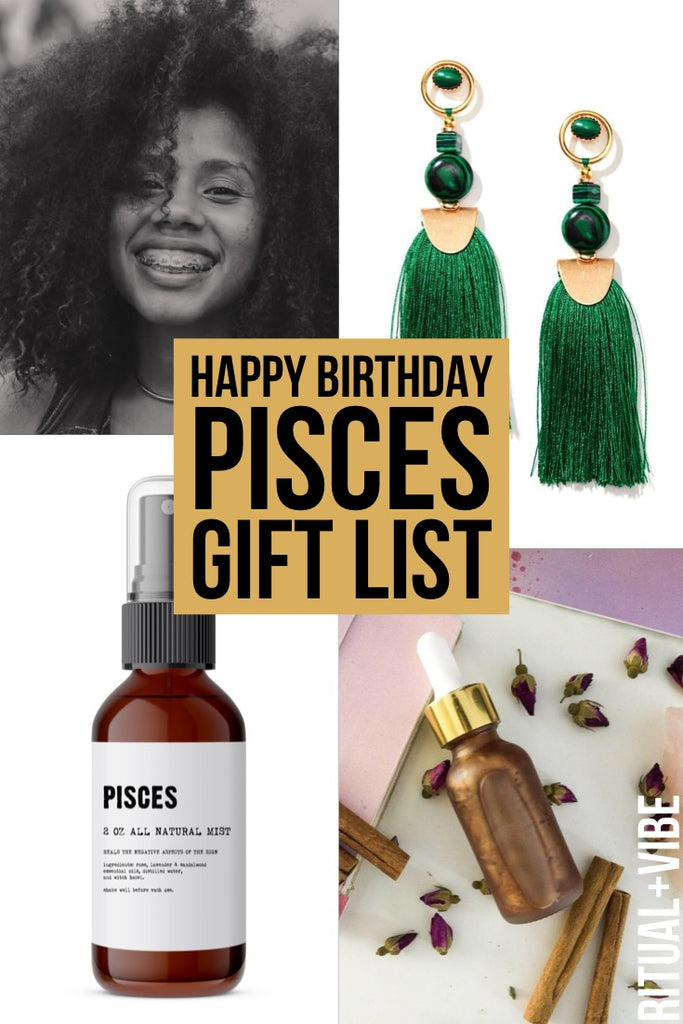 Pisces zodiac birthday inspired birthday gift and playlist