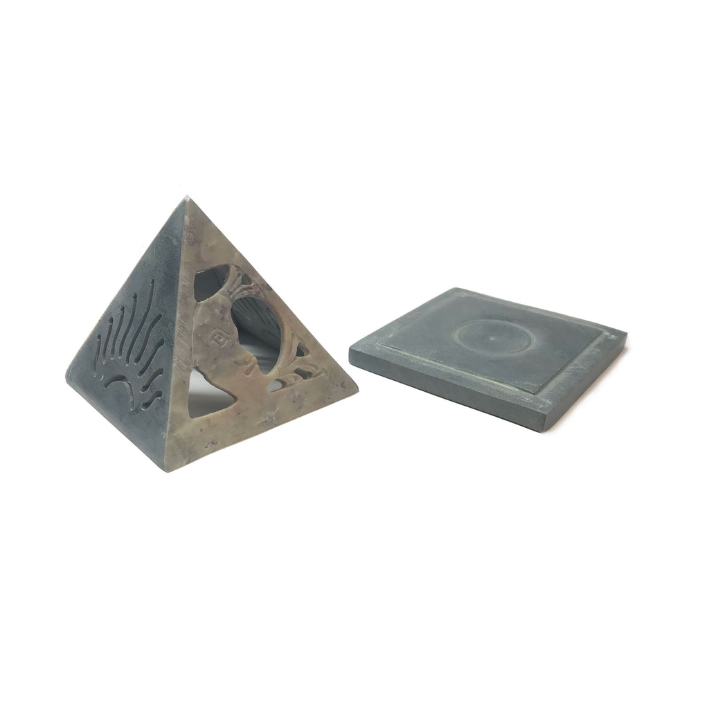 Pyramid Incense Burner with Incense Cones from Ritual+Vibe