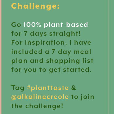 7 Day Plant Based Meal Plan (FREE) from Ritual+Vibe