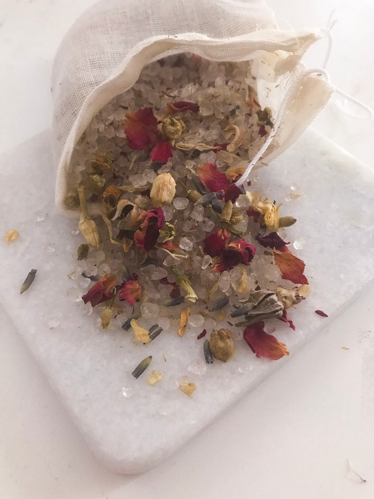"5-Flower Dead Sea Salt Bath Soak ""New Year, New Me"" from Ritual+Vibe"