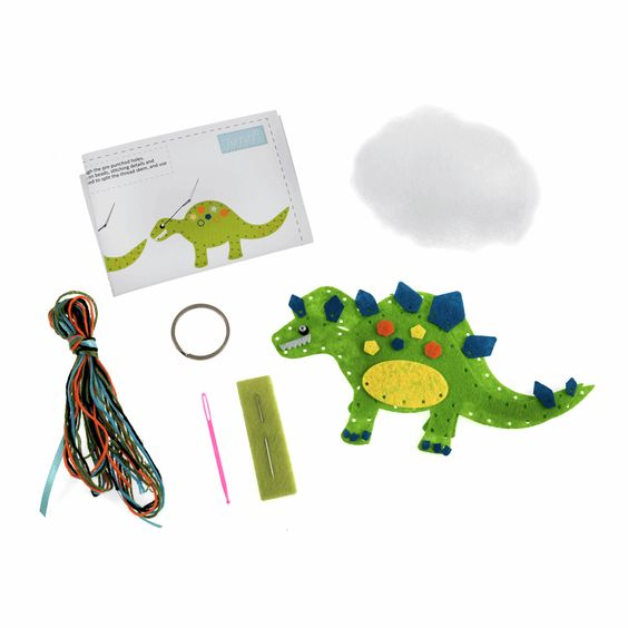 Trimits Make Your Own Felt Dinosaur Sewing Kit