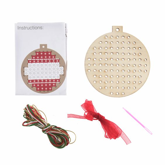 Wooden Cross Stitch Kit: Bauble
