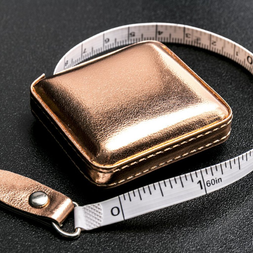 Shimmery Retractable Tape Measure - Rose Gold - 150cm long