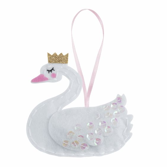 Trimits Make Your Own Felt Swan Sewing Kit