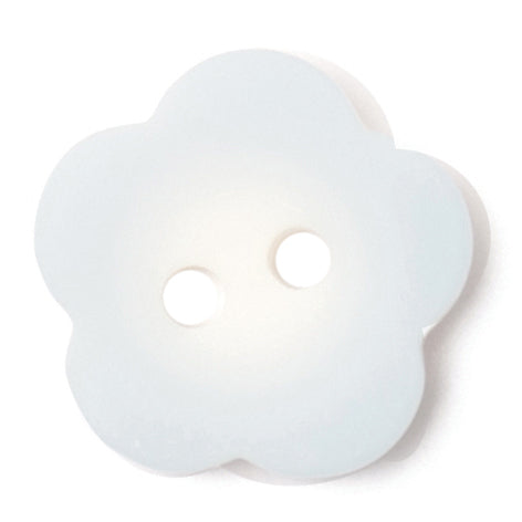 Flower Shape Button, Light Blue 15mm