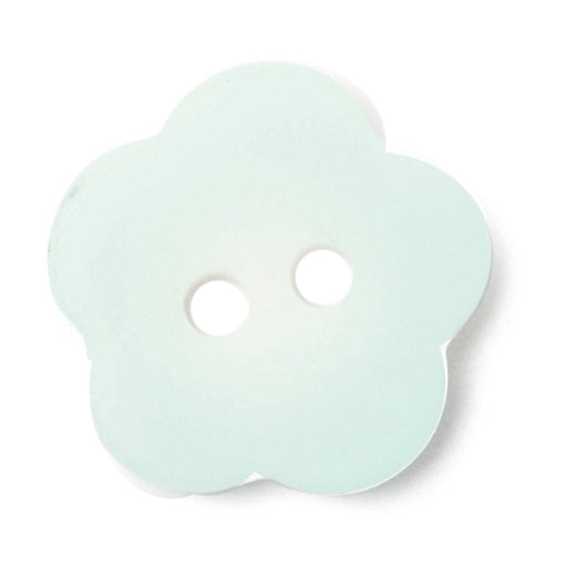 Flower Shape Button, Mint Green 15mm