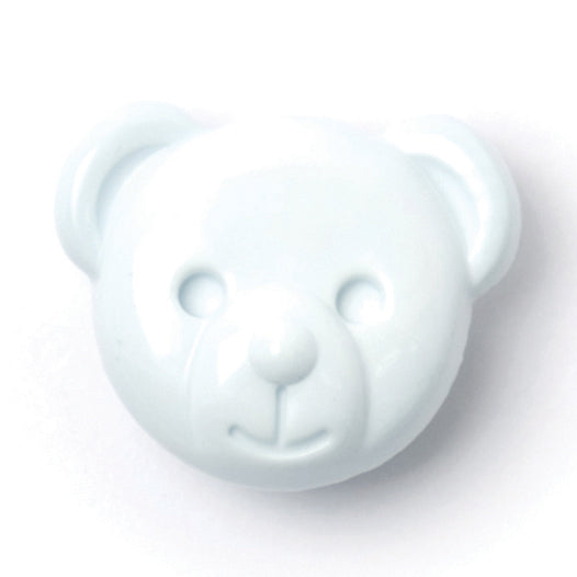 Teddy Bear Button, Light Blue 15mm
