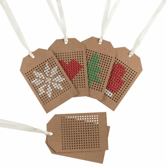 Cross Stitch Gift Tags Kit