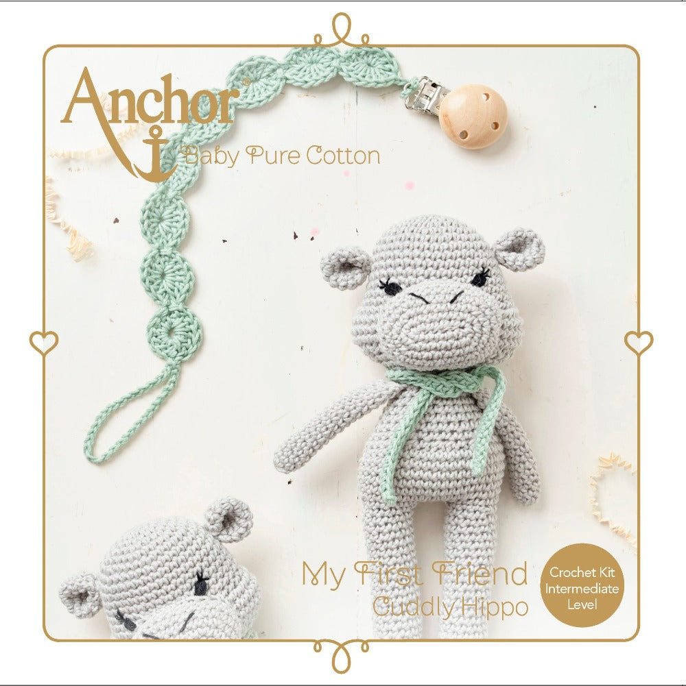 Anchor Baby Pure Cotton crochet kit Amigurumi Hippo