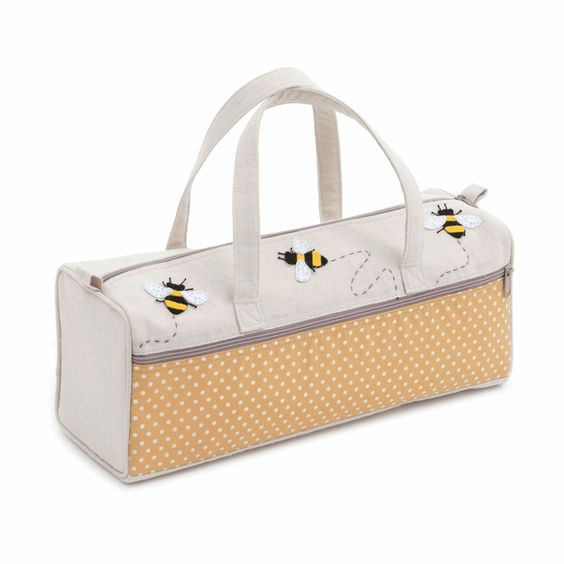 Bee Appliqué Knitting Bag