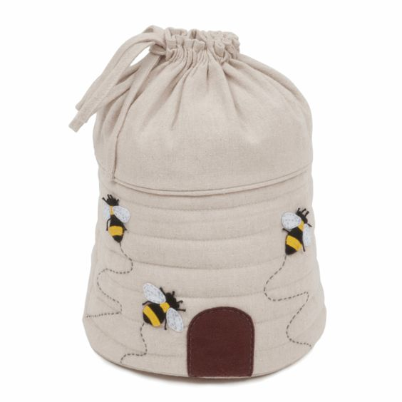 Drawstring Project Bag Bee Hive