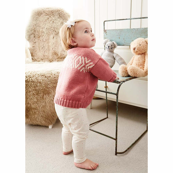 Rowan Bloom Baby & Toddler Sweater Knitting Kit
