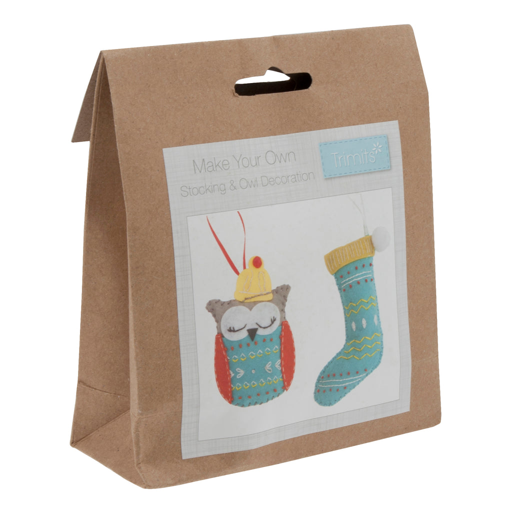 Trimits Make Your Own Felt Stocking & Owl Sewing Kit