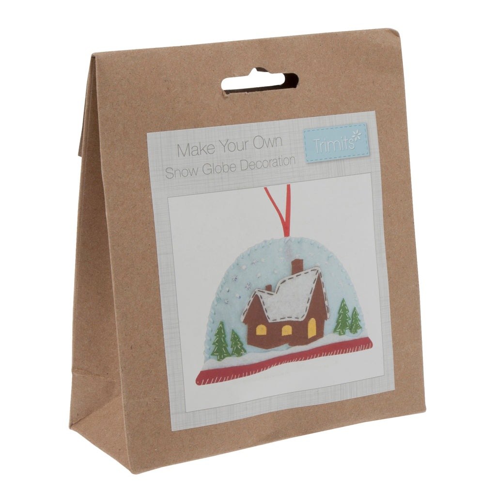 Trimits Make Your Own Felt Snow Globe Sewing Kit
