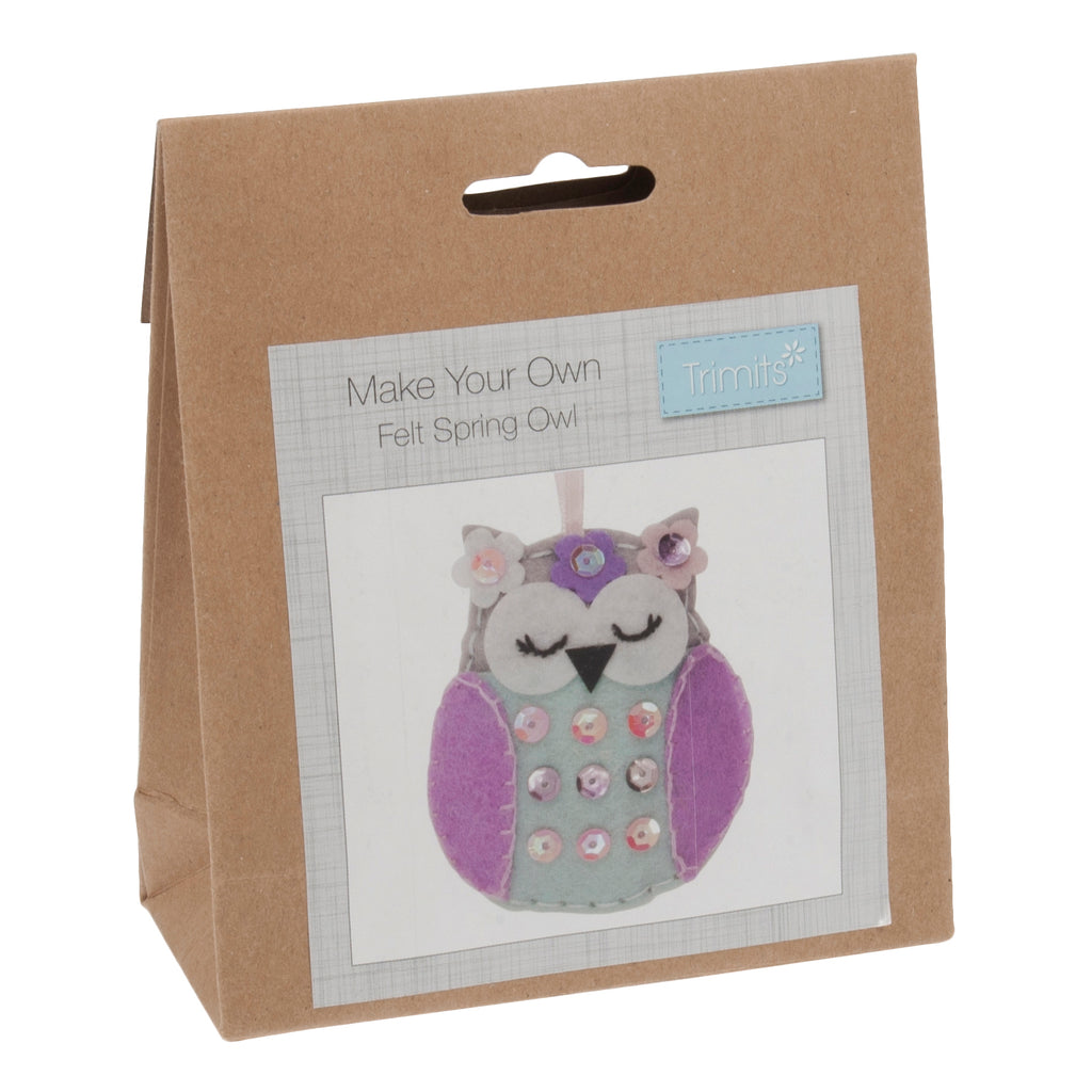 Trimits Make Your Own Felt Owl Sewing Kit