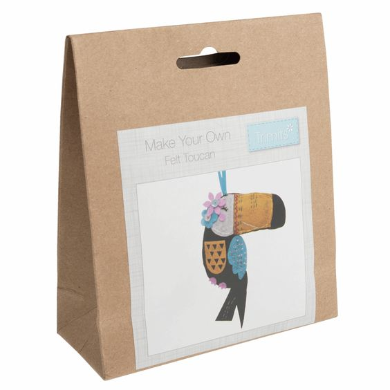 Trimits Make Your Own Felt Toucan Sewing Kit