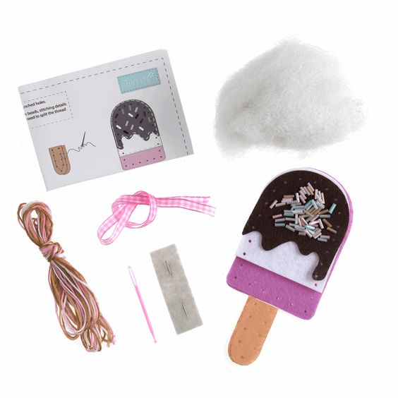 Trimits Make Your Own Felt Ice Lolly Sewing Kit